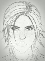 Lara sketch by carldraw