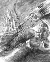 Out Here Are Sea Monsters by Zethelius