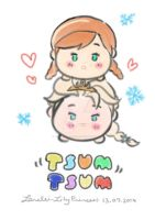 TsumTsum Elsa n Anna by LORELEI-LilyPrincess