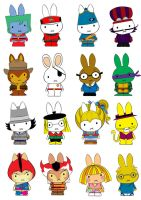 Generation Miffy 80's by likimonster