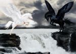 Aerial battle by Mary-Espen