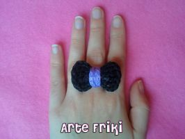 Crochet bow ring by ArteFriki