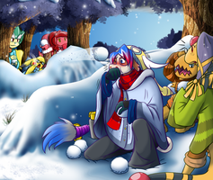 Snow Wars: Delibirds against Frosslasses by coyotepack