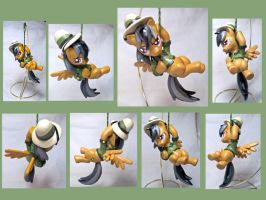 Daring Do Sculpt- Multiple Views by CadmiumCrab