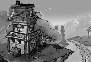 Concept for my Senior Project 3d Environment by Spopling