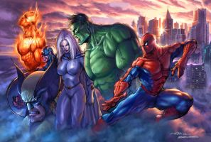 Marvel Universe by FedericoMusetti