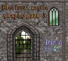 Medieval castle shapes pack 3 by jojo-ojoj