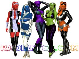 Trendy Twi'lek Girls by Giolon