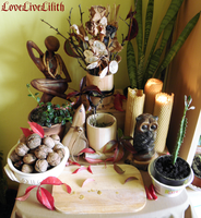 Home altar (middle autumn) by LoveLiveLilith