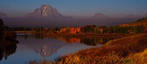 Smoke on Oxbow Bend Fall by mikewheels