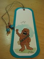 chewbacca bookmark by beckadoodles