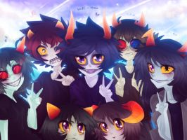 Homestuck - Say cheese! by Nadi-Chan