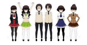 Kisekae Runway - School Outfits by Xx-Chellie-Bellie-xX