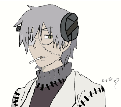 franken stein colored by eve12no2name
