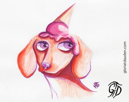 Sweet Dog by Gloria T Dauden by Gloria-T-Dauden