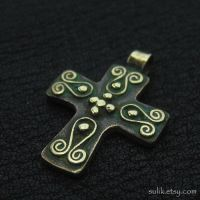 Bronze Byzantine cross by Sulislaw