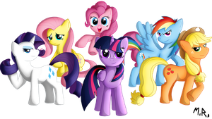 The Mane Six by ShadowNinja976