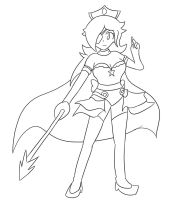Rosalina the Space Pirate :Lineart: by Xero-J