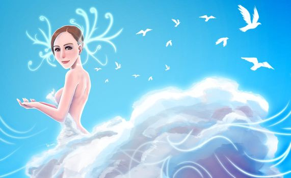 A girl of cloud by lazyseal8