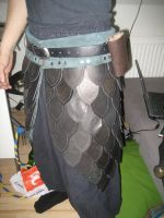 Leather scaleskirt by Nayberg