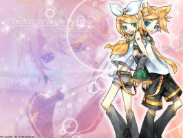 Vocaloid Wallpaper: Len-Rin by shirotsuki-hack