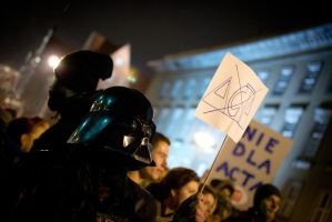 Anti ACTA protest - Wroclaw 2 by DamianMekal
