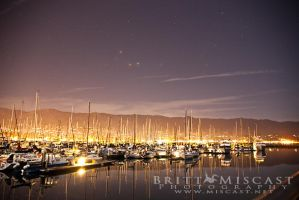 Boats in the Harbor by brittmiscast