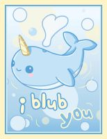 Narwhal Card by Fluffntuff