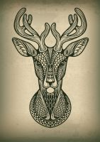 Deer by Dana-Ulama