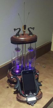 Steampunk Cell Phone Holder - Design 2 by MichaelOrlandoArt