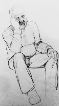 old man drawing by beth223