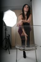 model at studio by SylvieRider