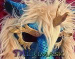 Kirin mask with Fur up close by merimask
