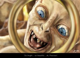 Gollum and the Precious by Giova94