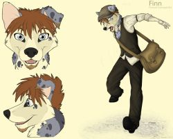 Finley Fursuit Concept Art by AyamiKato