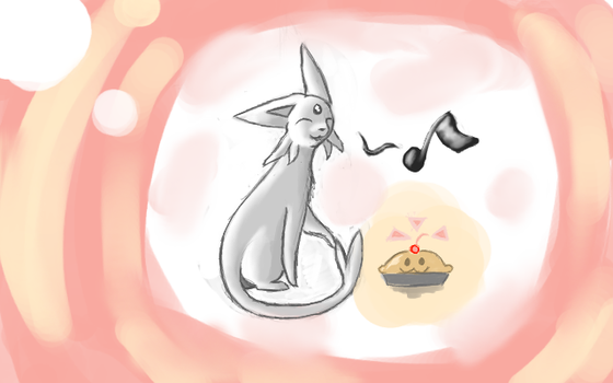 The Silver Espeon by Umberondrawer