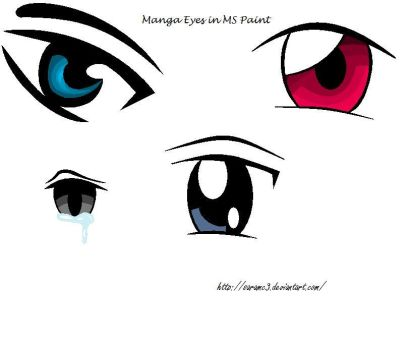 Manga Eyes in MS Paint by SaraMC3