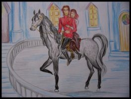 Rand and Aviendha in Caemlyn by Gala-maia