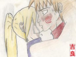 The Stolen Frist Kiss.:Colored by Shikamari405