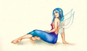 blue fairy by jurithedreamer