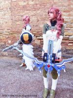 Lightning and Serah FFXIII-2 cosplay I by onlycyn
