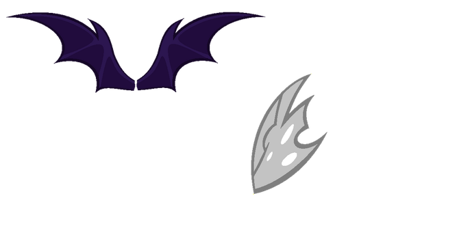 Bat pony+Changeling wings :free to use: by RB-Bases