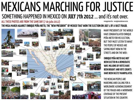 MEXICANS MARCHING FOR JUSTICE - JULY 7th 2012 by Ludo38