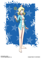 Pin-Up Art - Rosalina (Sleepwear Variant) by Cokomon