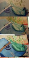 Watercolor step by step by Aryiea