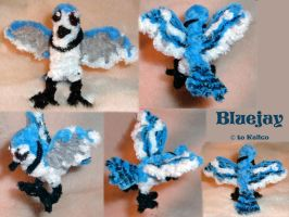 Bluejay -- Pipecleaners by kalicothekat