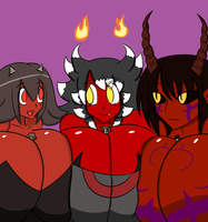 Demon Girl Appreciation Day 2013 by owlizard