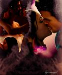 Elijah and Elena kiss by neangel16