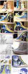 Persona 3+4 CUSTOM Shoes by Hat-Kid
