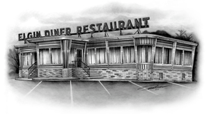 Diner Drawing by pat-mcmichael